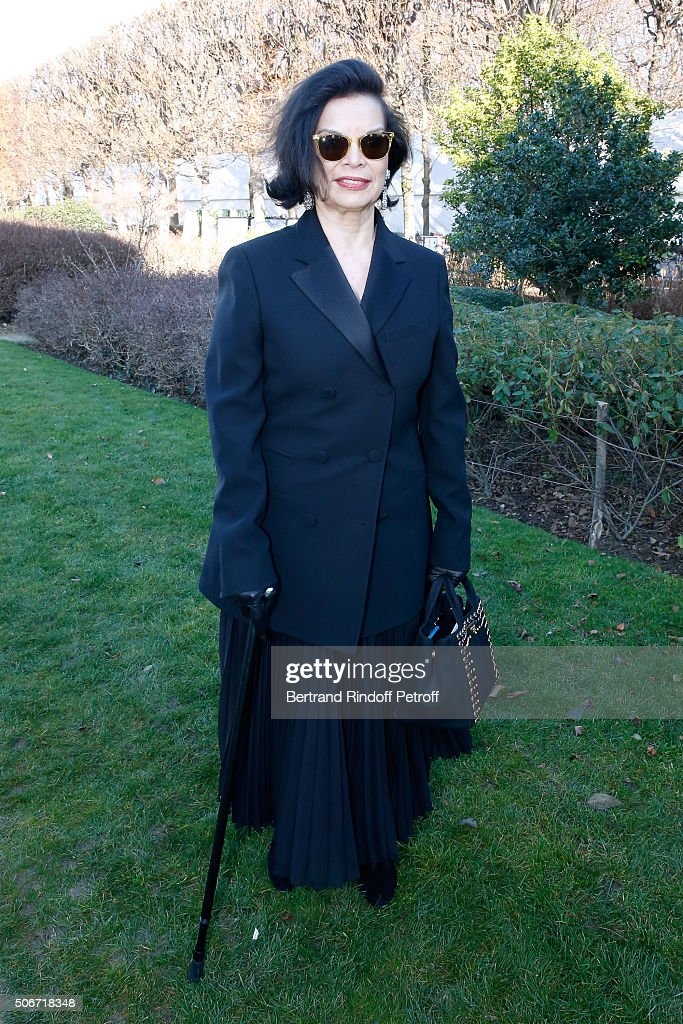 <a gi-track='captionPersonalityLinkClicked' href=/galleries/search?phrase=Bianca+Jagger&family=editorial&specificpeople=216047 ng-click='$event.stopPropagation()'>Bianca Jagger</a> attends the Christian Dior Spring Summer 2016 show as part of Paris Fashion Week. Held at Musee Rodin on January 25, 2016 in Paris, France.