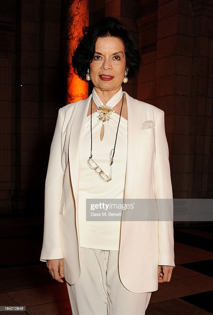Bianca Jagger attends the dinner to celebrate The David Bowie Is exhibition in partnership with Gucci and Sennheiser at the Victoria and Albert Museum on March 19, 2013 in London, England.