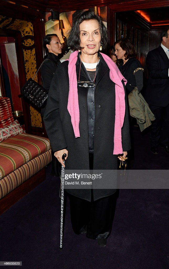 <a gi-track='captionPersonalityLinkClicked' href=/galleries/search?phrase=Bianca+Jagger&family=editorial&specificpeople=216047 ng-click='$event.stopPropagation()'>Bianca Jagger</a> attends the 'Dior And I' UK Premiere after party at Loulou's on March 16, 2015 in London, England.