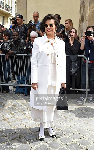 Bianca Jagger attends the Dior show as part of Paris Fashion Week Haute Couture Fall/Winter 20142015 on July 7 2014 in Paris France