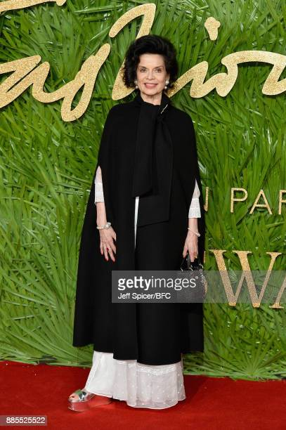 Bianca Jagger attends The Fashion Awards 2017 in partnership with Swarovski at Royal Albert Hall on December 4 2017 in London England