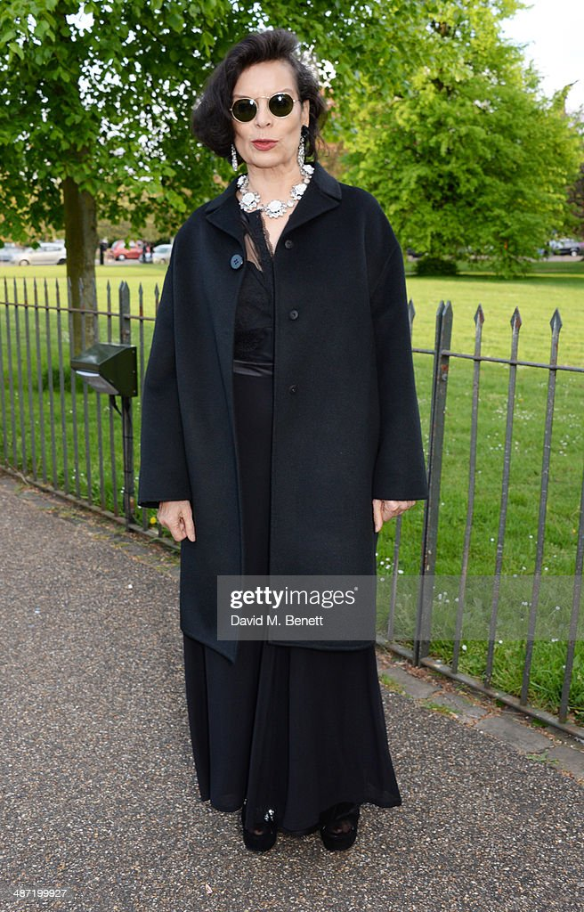 Bianca Jagger attends the launch of 'Serpentine' a new fragrance by The Serpentine Gallery and fashion house Commes des Garcons featuring bottle...