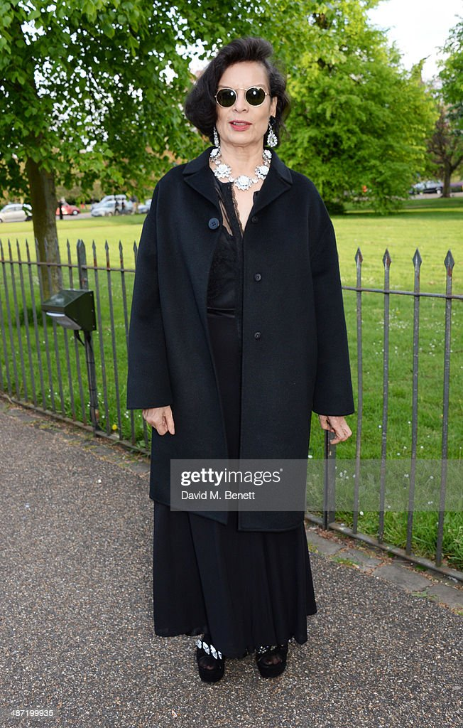 Bianca Jagger attends the launch of 'Serpentine', a new fragrance by The Serpentine Gallery and fashion house Commes des Garcons featuring bottle artwork by Trace Emin, on April 28, 2014 in London, England.