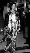 Bianca Jagger attends the opening of 'The Peking Oera of Mainland China' on August 12 1980 at the Metropolitan Museum of Art in New York City
