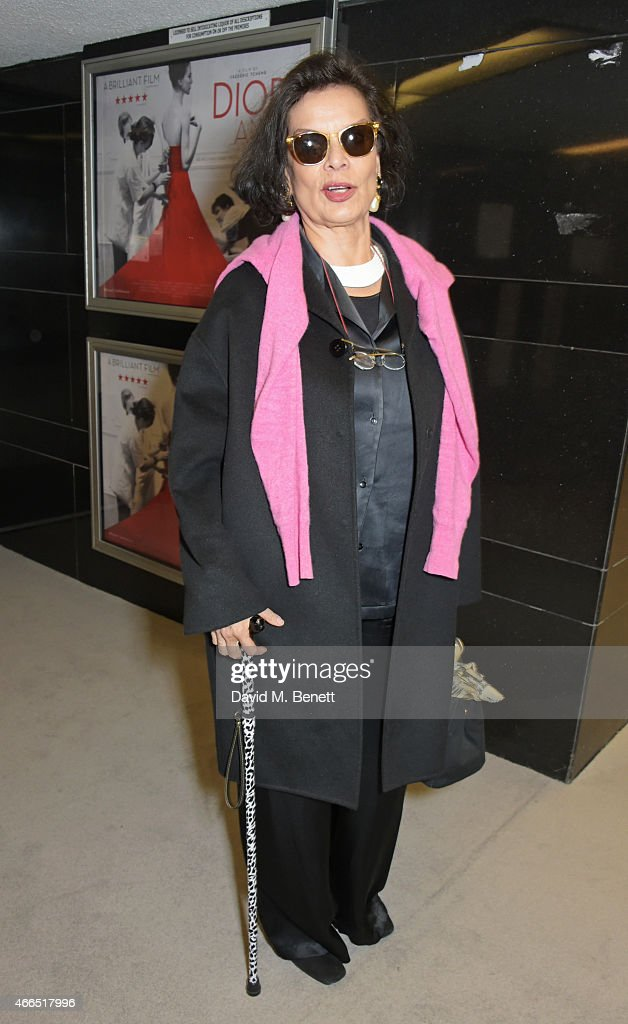 <a gi-track='captionPersonalityLinkClicked' href=/galleries/search?phrase=Bianca+Jagger&family=editorial&specificpeople=216047 ng-click='$event.stopPropagation()'>Bianca Jagger</a> attends the UK premiere of 'Dior And I' at The Curzon Mayfair on March 16, 2015 in London, England.