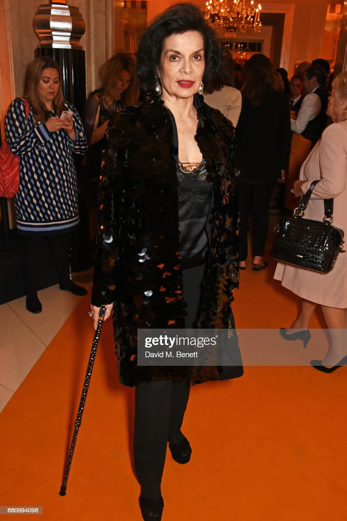 Bianca Jagger attends the Veuve Clicquot Business Woman Awards at Claridge's Hotel on May 9, 2017 in London, England.