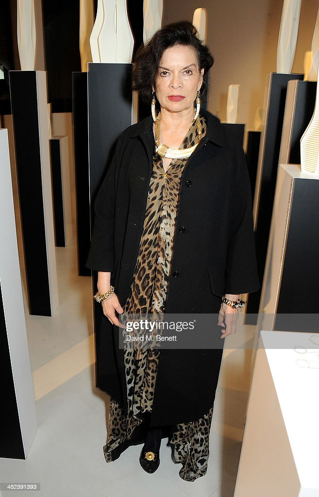 <a gi-track='captionPersonalityLinkClicked' href=/galleries/search?phrase=Bianca+Jagger&family=editorial&specificpeople=216047 ng-click='$event.stopPropagation()'>Bianca Jagger</a> attends the Zaha Hadid for Caspita pop-up store launch event on November 28, 2013 in London, England.