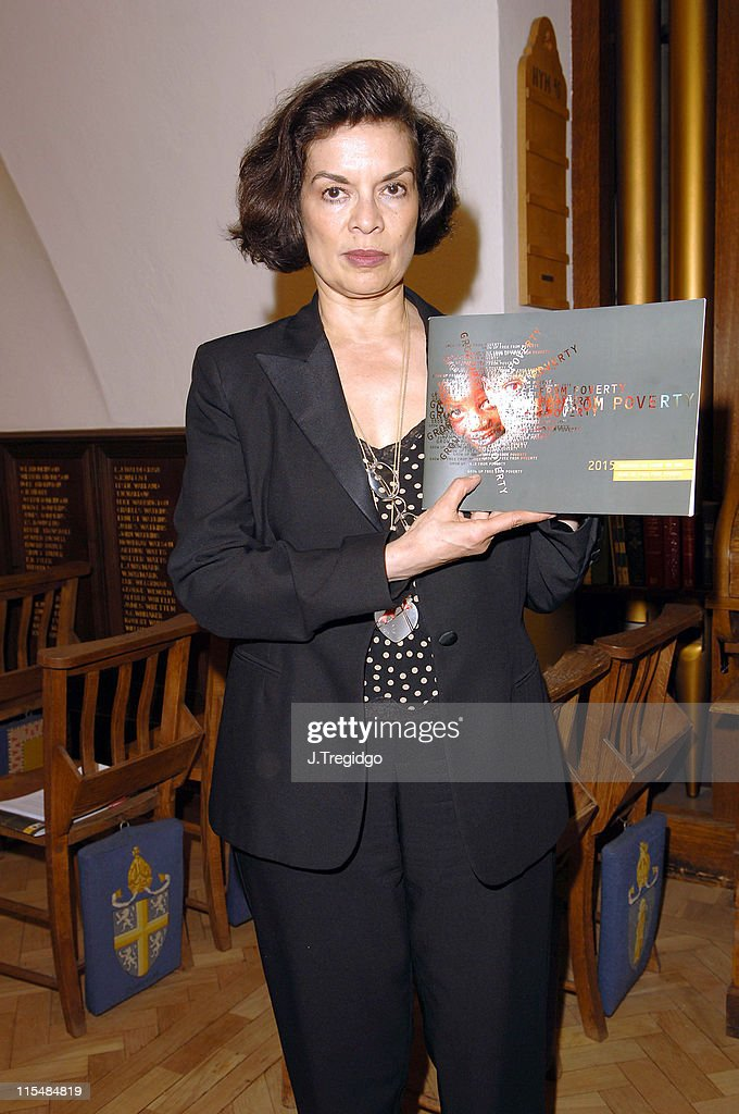 <a gi-track='captionPersonalityLinkClicked' href=/galleries/search?phrase=Bianca+Jagger&family=editorial&specificpeople=216047 ng-click='$event.stopPropagation()'>Bianca Jagger</a> during Children's Voices in Poverty Report - June 16, 2005 at Abbington Green in London, Great Britain.