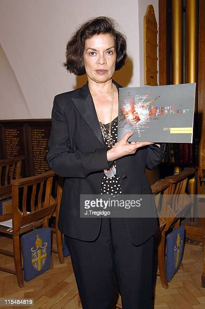 Bianca Jagger during Children's Voices in Poverty Report June 16 2005 at Abbington Green in London Great Britain