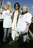 Bianca Jagger during Trident Replacement Vote CND Parliamentary Protest at Houses of Parliament in London United Kingdom