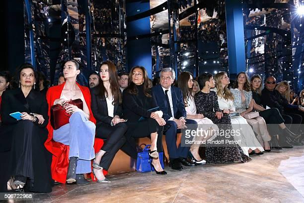 Bianca Jagger Erin O'Connor Liu Yifei CEO Dior Sidney Toledano and his wife Katia Olga Kurylenko Noomi Rapace Lady Kitty Spencer Sai Bennett Guest...