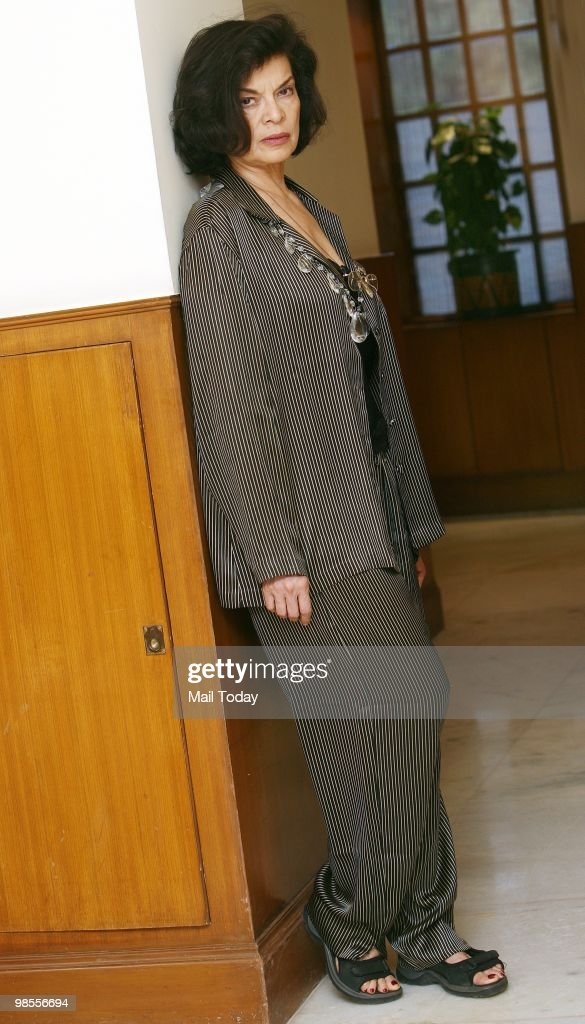 Bianca Jagger, ex-wife of Rolling Stones front man Mick Jagger, poses in New Delhi on April 17, 2010. Bianca is showing solidarity with Dongria Kondh tribals of Orissa.