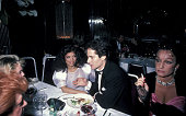 Bianca Jagger Glenn Dubin and Guest during Bianca Jagger at Elaine's at Elaine's in New York City New York United States
