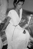 Bianca Jagger in Grecianstyle formal dress circa 1960 New York