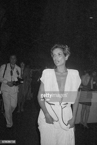 Bianca Jagger in Grecianstyle formal dress circa 1960 New York