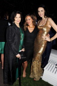 Bianca Jagger Jade Jagger and L'Wren Scott attend the annual Serpentine Gallery Summer Party cohosted by L'Wren Scott at The Serpentine Gallery on...