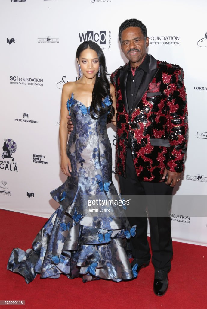 Bianca Lawson and Richard Lawson attend the Wearable Art Gala - Arrivals at California African American Museum on April 29, 2017 in Los Angeles, California.