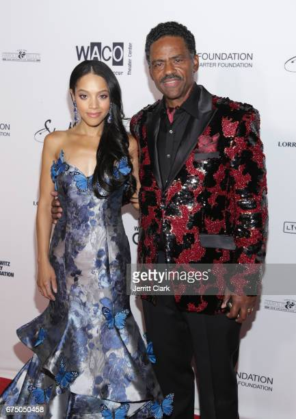 Bianca Lawson and Richard Lawson attend the Wearable Art Gala Arrivals at California African American Museum on April 29 2017 in Los Angeles...