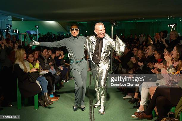 Bianca Li and Jean Paul Gaultier walk the runway during the Jean Paul Gaultier show as part of the Paris Fashion Week Womenswear Fall/Winter 20142015...
