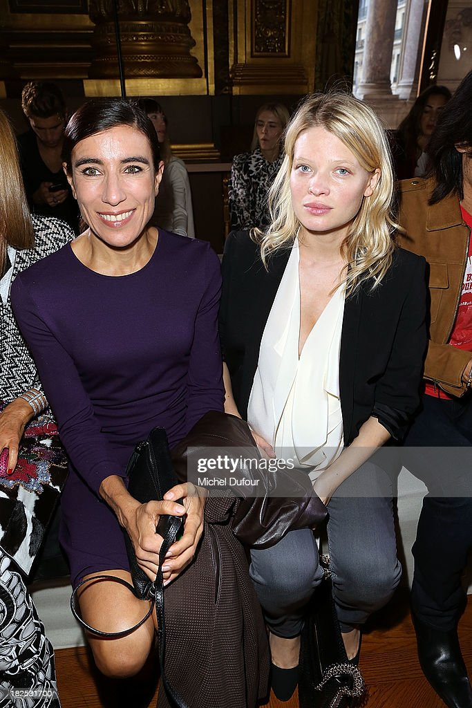 Bianca Li and <a gi-track='captionPersonalityLinkClicked' href=/galleries/search?phrase=Melanie+Thierry&family=editorial&specificpeople=591332 ng-click='$event.stopPropagation()'>Melanie Thierry</a> attend the Stella McCartney show as part of the Paris Fashion Week Womenswear Spring/Summer 2014 on September 30, 2013 in Paris, France.