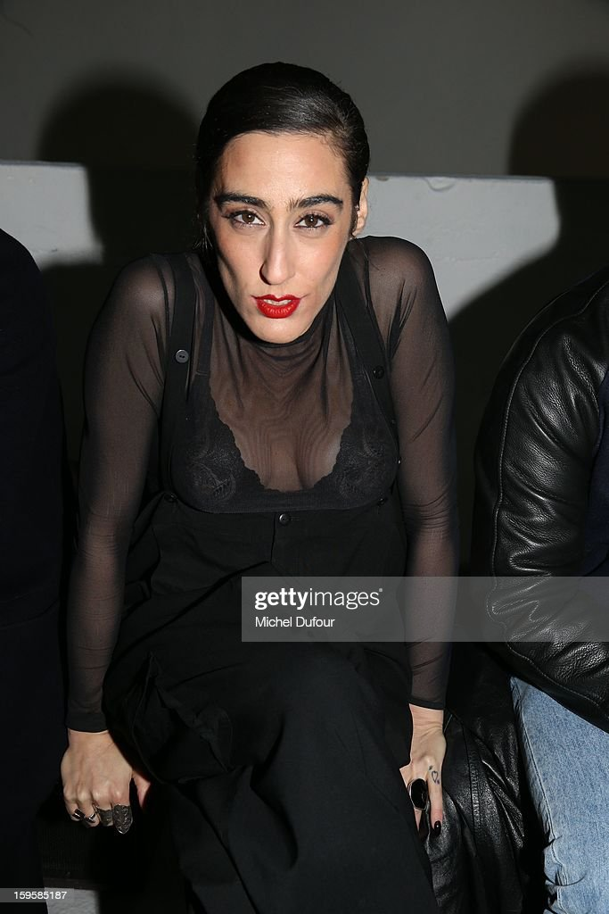 Bianca Li attends the Mugler Men Autumn / Winter 2013 show as part of Paris Fashion Week on January 16, 2013 in Paris, France.