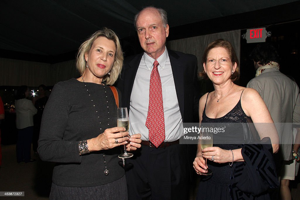 Bianca Roberts, author David Adams Cleveland and Patricia Cleveland attend the Artsy celebration for CalArts' John Baldessari Studios, with Audi, Valentino, and Vhernier at Soho Beach House on December 5, 2013 in Miami Beach, Florida.