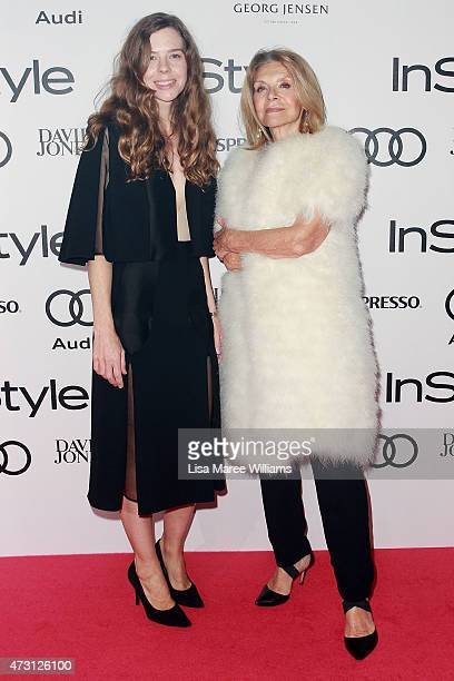 Bianca Spender and Carla Zampatti arrive at the 2015 Women of Style Awards at Carriageworks on May 13 2015 in Sydney Australia