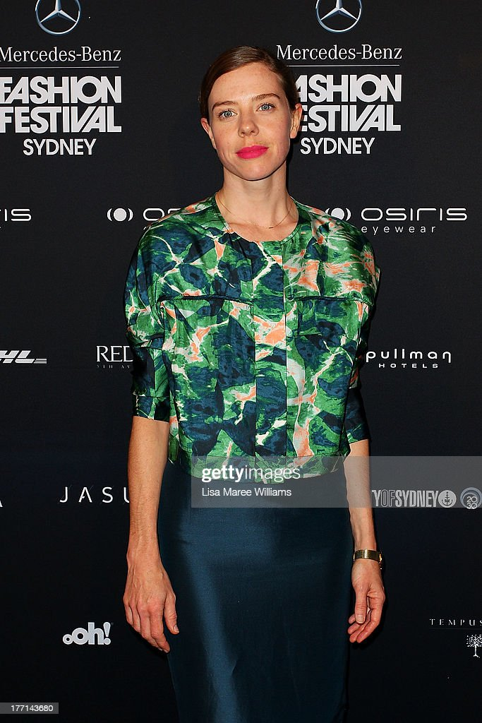 Bianca Spender arrives at the MBFWA Trends show during Mercedes-Benz Fashion Festival Sydney 2013 at Sydney Town Hall on August 21, 2013 in Sydney, Australia.