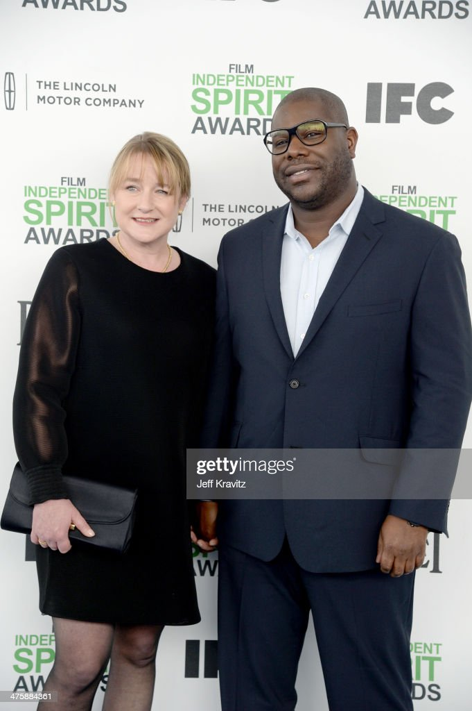 Bianca Stigter and Director Steve McQueen attend the 2014 Film Independent Spirit Awards on March 1, 2014 in Santa Monica, California.