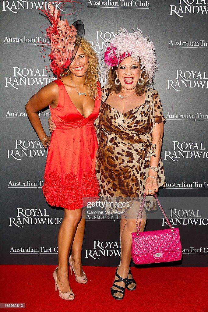 Bianca Venutti and Maria Venutti attends the Gala Launch event to celebrate the new Australian Turf on October 10, 2013 in Sydney, Australia.