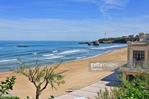 Biarritz sur la plage et de la promenade