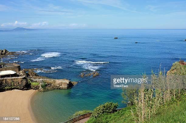 Biarritz-plage avec rocks