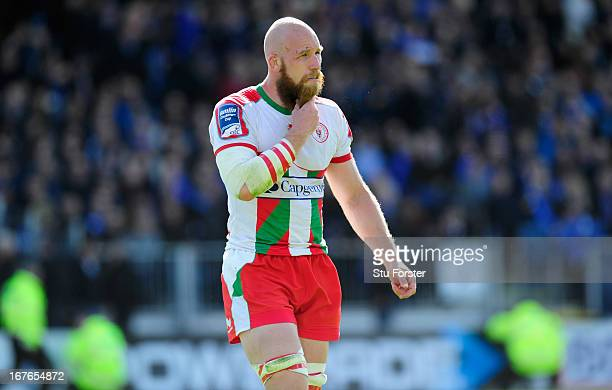 Biarritz Olympique forward eric Lund reflects on his sides defeat after the Amlin Challenge Cup Semi Final match between Leinster and Biarritz...