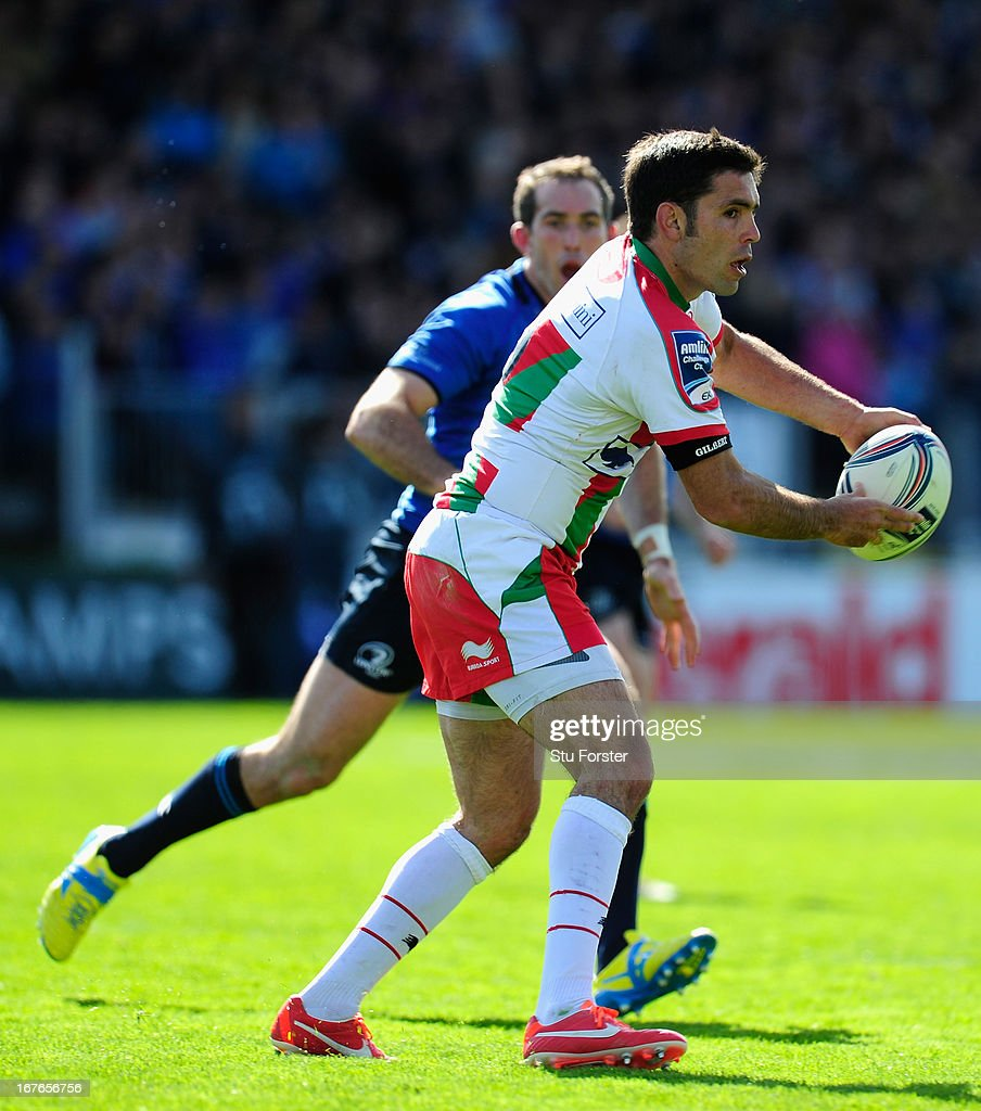 Biarritz Olympique player <a gi-track='captionPersonalityLinkClicked' href=/galleries/search?phrase=Dimitri+Yachvili&family=editorial&specificpeople=226873 ng-click='$event.stopPropagation()'>Dimitri Yachvili</a> in action during the Amlin Challenge Cup Semi Final match between Leinster and Biarritz Olympique at Royal Dublin Society on April 27, 2013 in Dublin, Ireland.