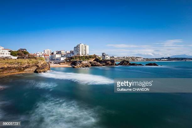 Biarritz, Villa Belza, depuis rocher de la vierge