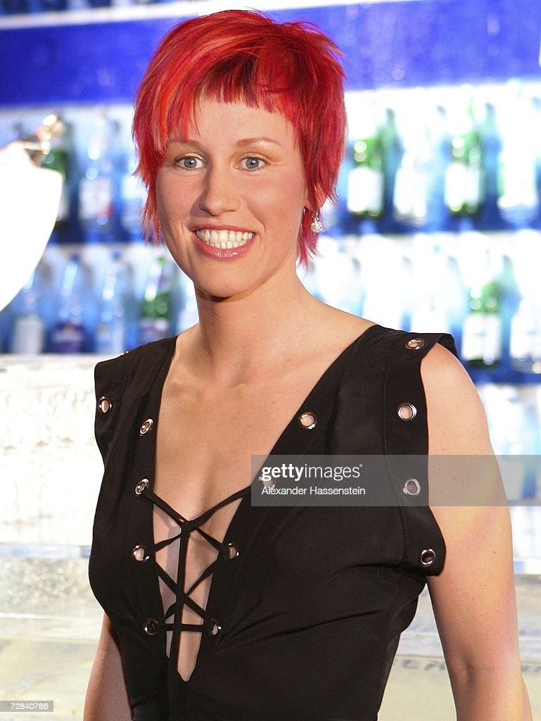 Biathlete Kati Wilhelm arrives for the 'Best Sportsman of the Year 2006' event at the Kurhaus Casino on December 17 2006 in BadenBaden Germany