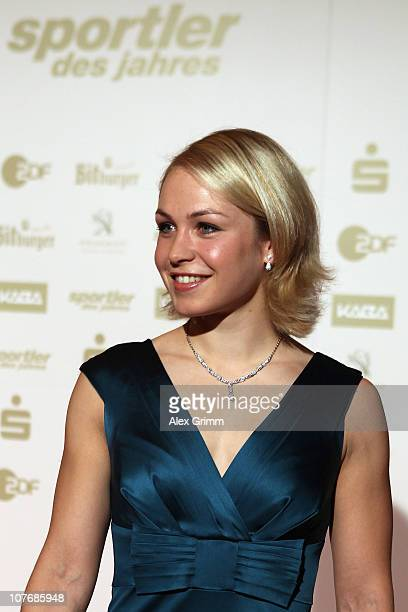 Biathlete Magdalena Neuner arrives for the 'Athlete of the Year 2010' gala at the Kurhaus BadenBaden on December 19 2010 in Baden Baden Germany