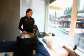 Biathlon athlete Sarah Murphy of New Zealandis pictured at her suite at the Whistler Olympic village during the media tour ahead of the Vancouver...