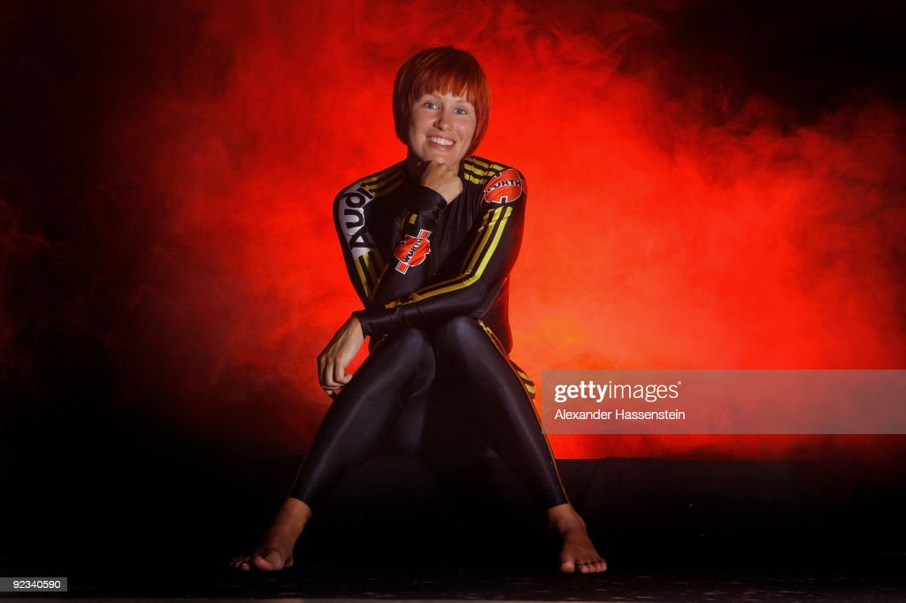 Biathlon Olympic Gold medalist <a gi-track='captionPersonalityLinkClicked' href=/galleries/search?phrase=Kati+Wilhelm&family=editorial&specificpeople=213856 ng-click='$event.stopPropagation()'>Kati Wilhelm</a> of Germany poses for a portrait session on September 26, 2009 in Mugla, Turkey.