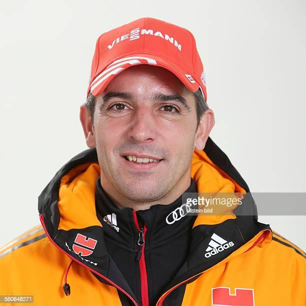 Biathlon Ricco Gross Studioportrait des Deutschen Ski Verband Sportler/Trainer fuer die Saison 2013/2014