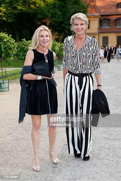Bibbi Gritti and Stephanie von Pfuel attend the reopening of the Berggruen Museum at Schloss Charlottenburg on June 7 2013 in Berlin Germany