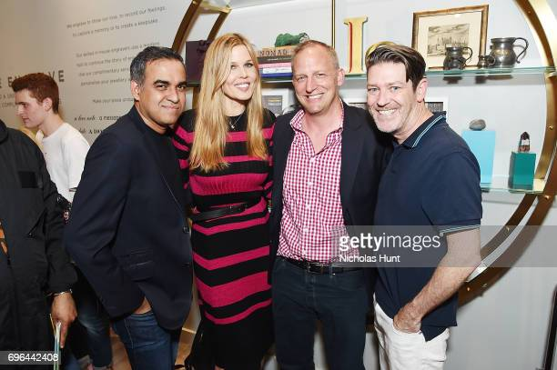 Bibhi Mohapatra Mary Alice Stephenson Jim Deyonker and Eddie Roche attends the Monica Vinader x GLAM4GOOD Get Your Glam On Party on June 15 2017 in...