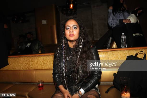 Bibi Bourelly attends the Def Jam Upfronts 2017 showcase at Kola House on May 9 2017 in New York City