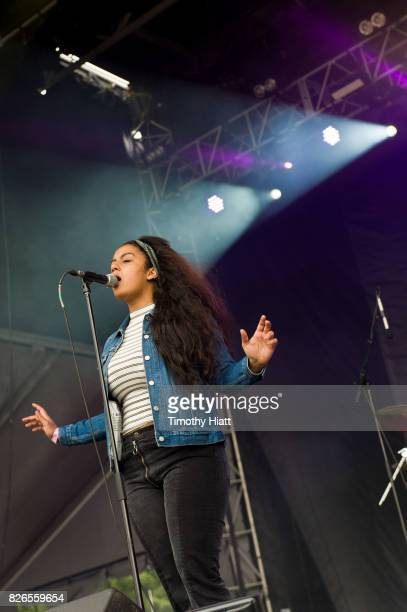 Bibi Bourelly on Day Two of Lollapalooza at Grant Park on August 4 2017 in Chicago Illinois