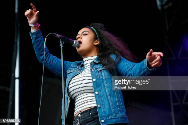 Bibi Bourelly performs at Grant Park on August 4 2017 in Chicago Illinois