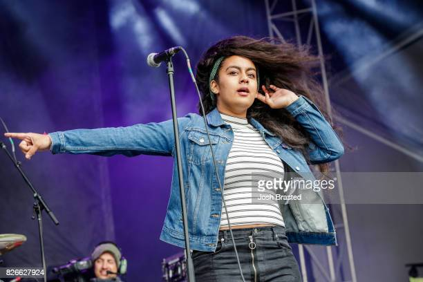 Bibi Bourelly performs at Lollapalooza 2017 at Grant Park on August 4 2017 in Chicago Illinois