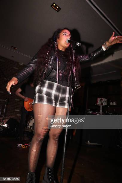 Bibi Bourelly performs at the Def Jam Upfronts 2017 showcase at Kola House on May 9 2017 in New York City