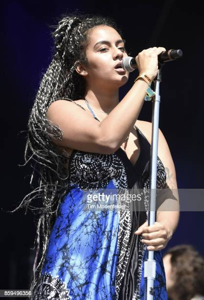 Bibi Bourelly performs during the Austin City Limits Music Festival at Zilker Park on October 8 2017 in Austin Texas