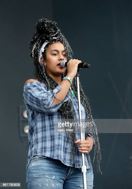Bibi Bourelly performs in concert on the last day of the Austin City Limits Music Festival at Zilker Park on October 15 2017 in Austin Texas