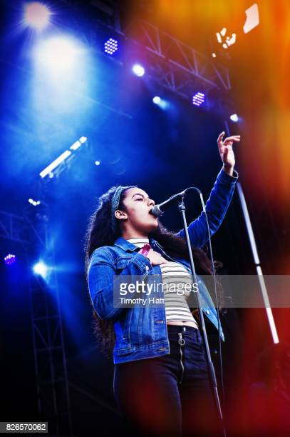 Bibi Bourelly performs on Day Two of Lollapalooza at Grant Park on August 4 2017 in Chicago Illinois